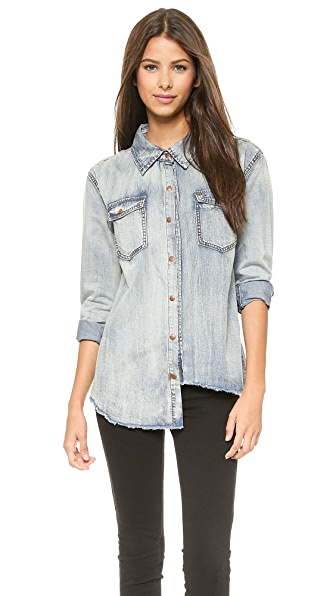 One Teaspoon Denim Shirt One Teaspoon Fiasco Liberty