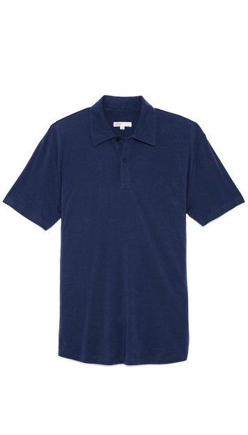Onia Matt Short Sleeve Polo
