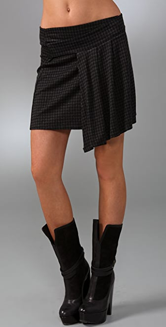 Only Hearts Houndstooth Wrap Skirt