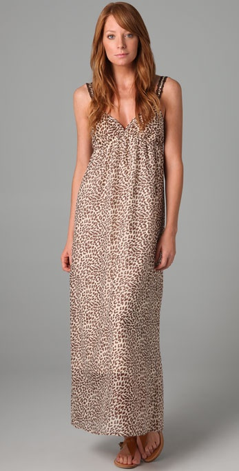 Only Hearts Leopard Long Dress