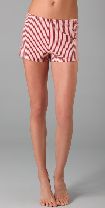 Only Hearts Red Stripe Sleep Shorts