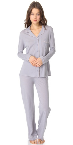 Only Hearts Piped Pajama Set