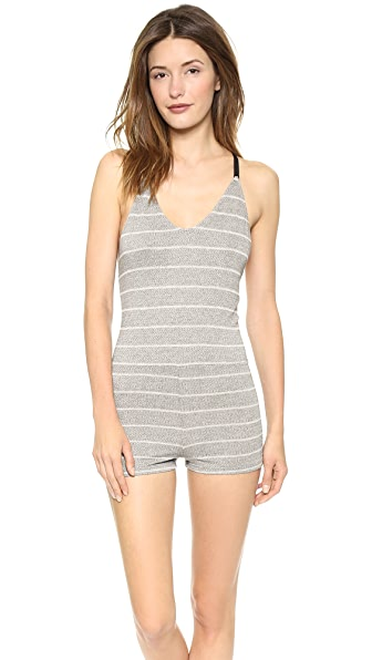 Only Hearts Stripe T Back Teddy