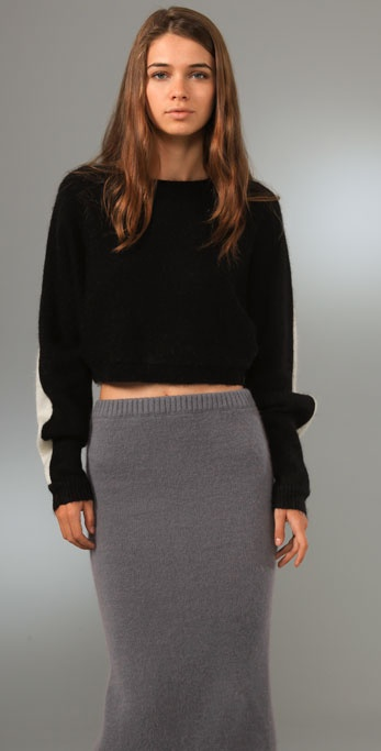 Opening Ceremony Mohair Bandage Dolman Sweater