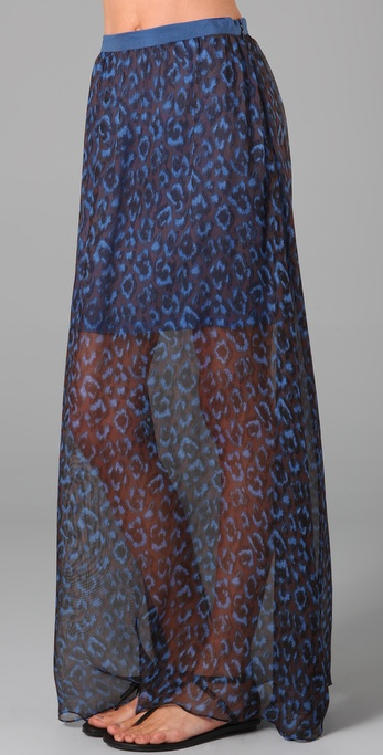 Opening Ceremony Silk Long Skirt