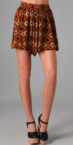 Opening Ceremony Silk Culotte Shorts