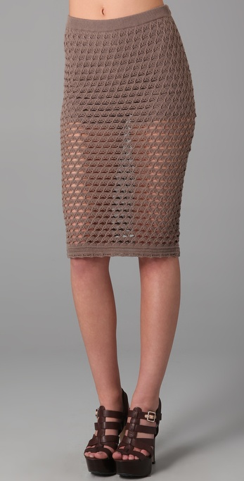 Opening Ceremony Crocheted Skirt