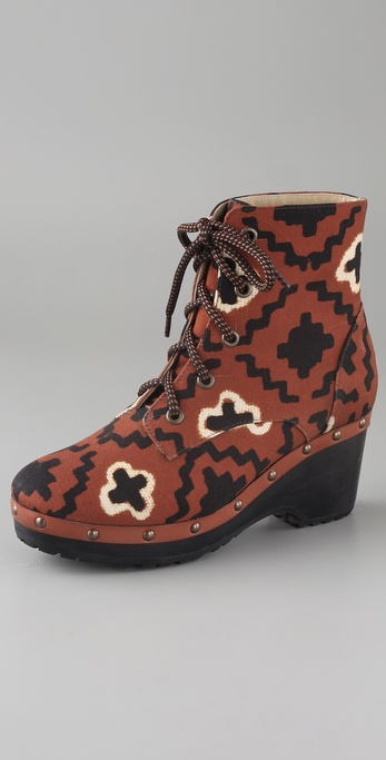 Opening Ceremony Joelle Canvas Clog Booties