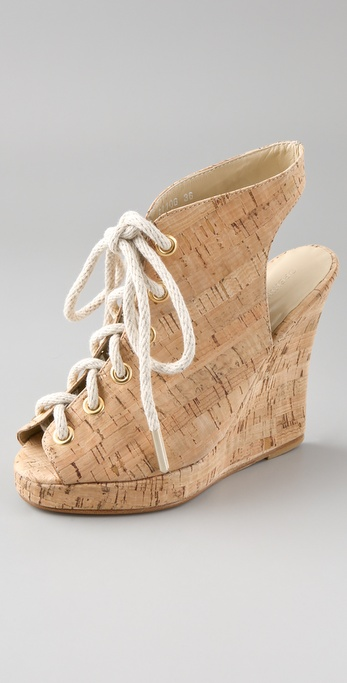 Opening Ceremony Stefania Cork Lace Up Booties