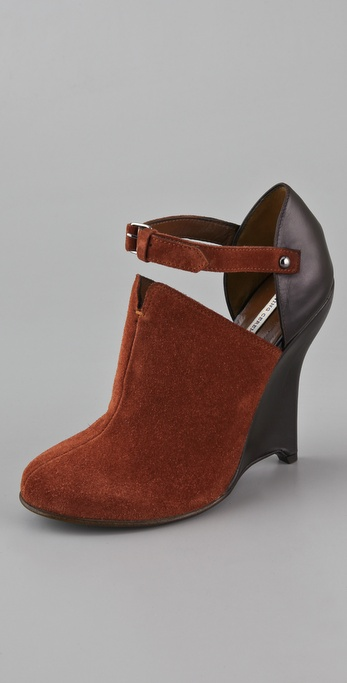 Opening Ceremony Agyness Suede Wedge Booties