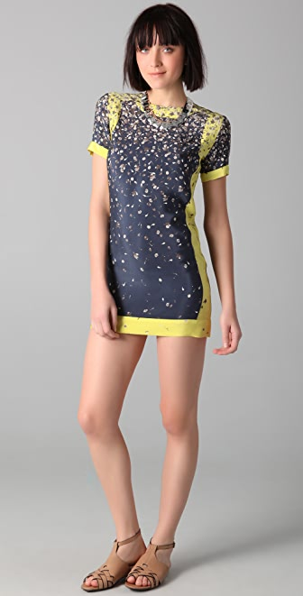 Opening Ceremony Pieced Scuba Floral Dress