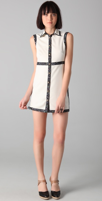 Opening Ceremony Sleeveless Shirtdress
