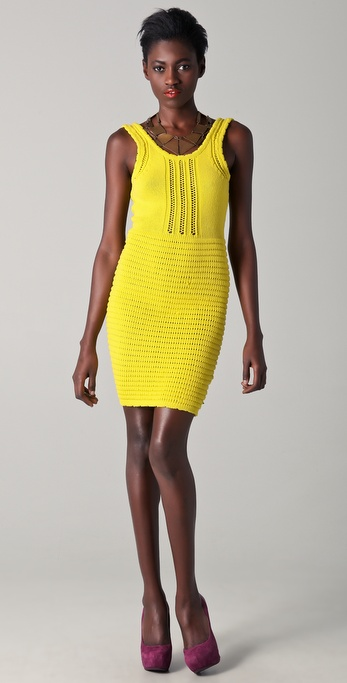 Opening Ceremony Spongy Knit Mini Dress