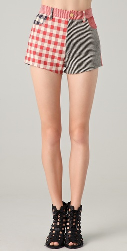 Opening Ceremony Patchwork Shorts