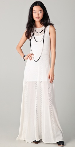 Opening Ceremony Pointelle Maxi Dress