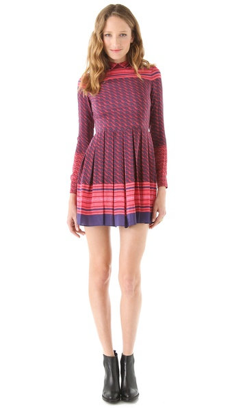 Opening Ceremony Aztec Print Pleated Dress