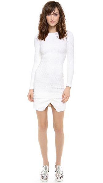 Opening Ceremony Posey Shirttail Mini Dress