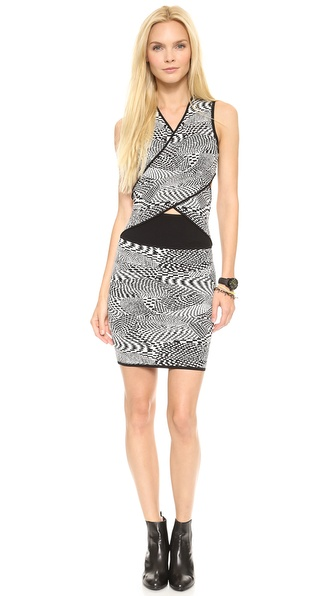 Opening Ceremony Techno Tubular Wrap Dress