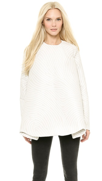 Opening Ceremony Dimensional Fingerprint Cascade Pullover Cape