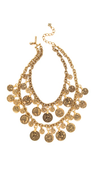Oscar de la Renta Coin Necklace