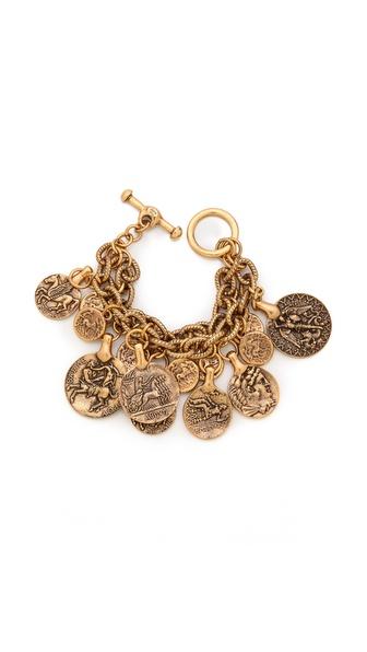 Oscar de la Renta Coin Bracelet