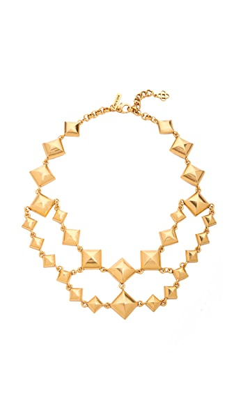 Oscar de la Renta Pyramid Stud Necklace