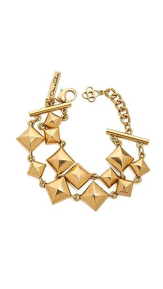 Oscar de la Renta Pyramid Stud Bracelet