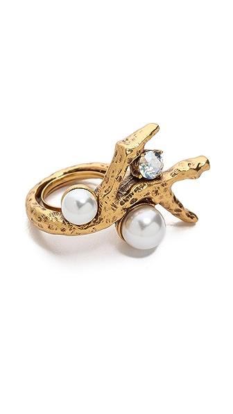 Oscar de la Renta Faux Coral Ring