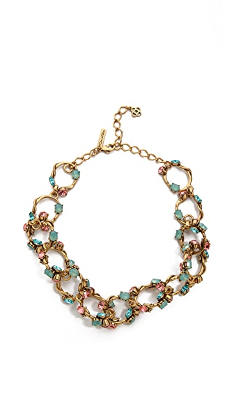 Oscar de la Renta Crystal Linked Necklace