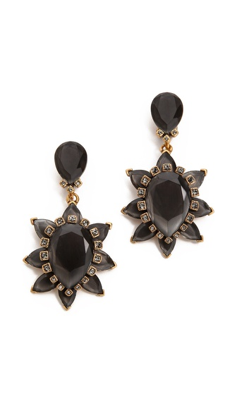 Oscar de la Renta Bold Clip On Earrings