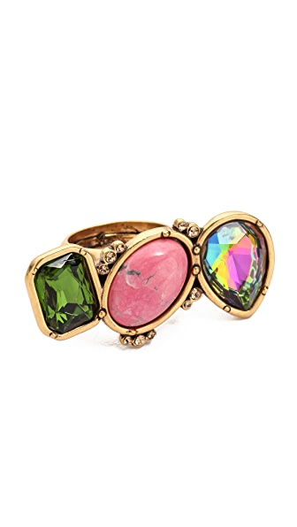 Oscar de la Renta Multi Stone Ring
