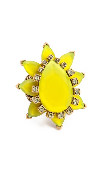 Oscar de la Renta Bold Pear Shaped Ring