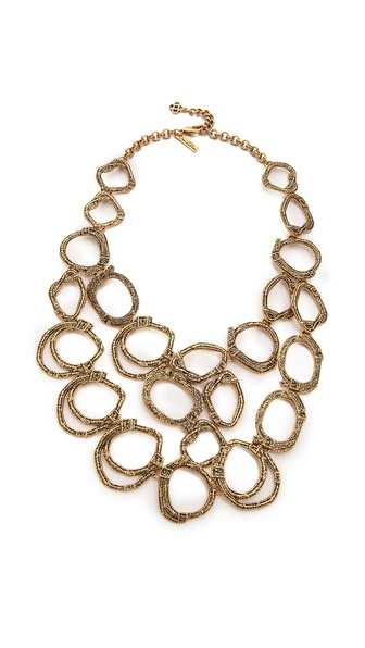 Oscar de la Renta Circle Necklace