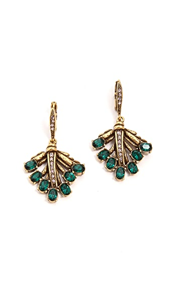Oscar de la Renta Cutout Dangle Earrings