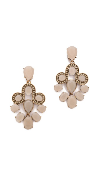 Oscar de la Renta Chandelier Earrings
