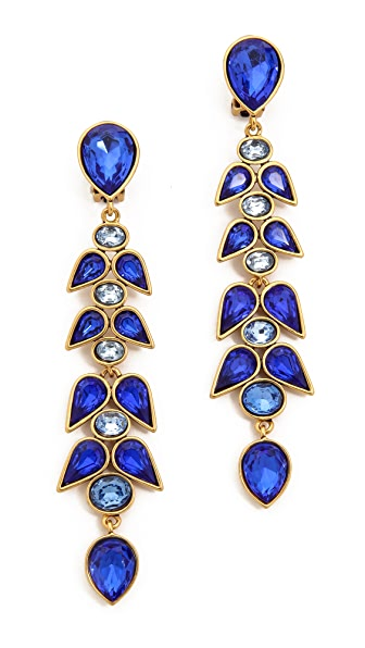 Oscar de la Renta Wisteria Clip On Earrings
