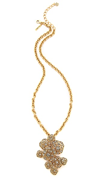 Oscar de la Renta Rose Pave Brooch / Necklace