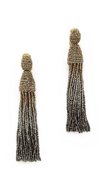 Oscar de la Renta Ombre Tassel Earrings