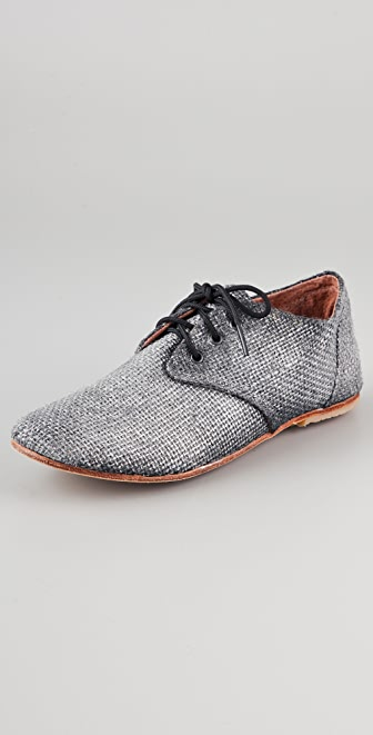 Osborn Silver Metallic Oxfords