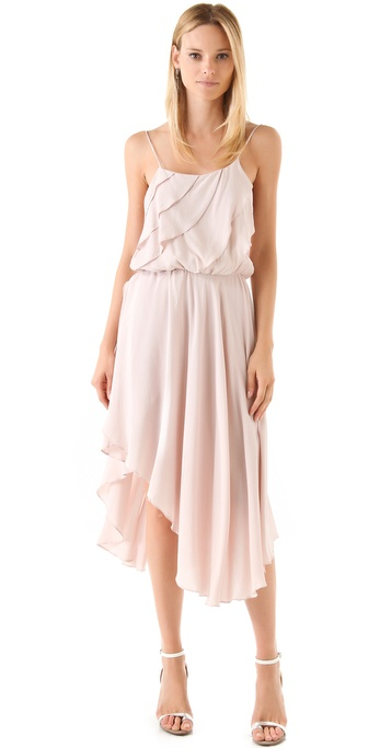 Oscar the Third Scallop Midi Dress