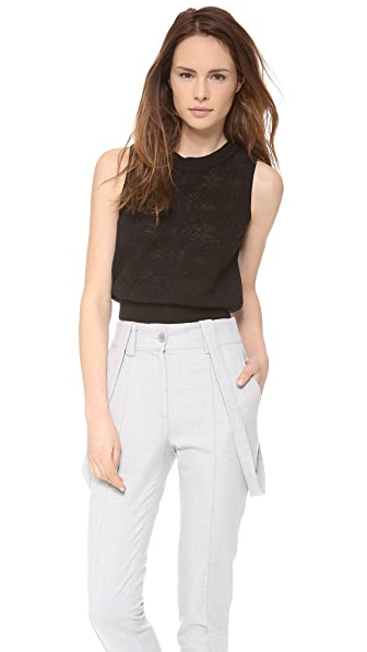 O'2nd Star Pattern Crop Top