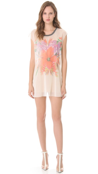 Osklen Tropical Flower Tule Dress