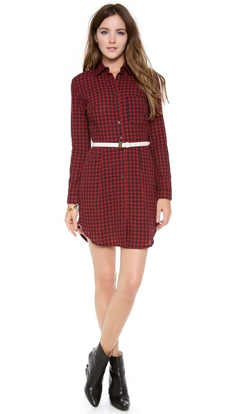 Osklen Vichy Wrinkle Shirtdress