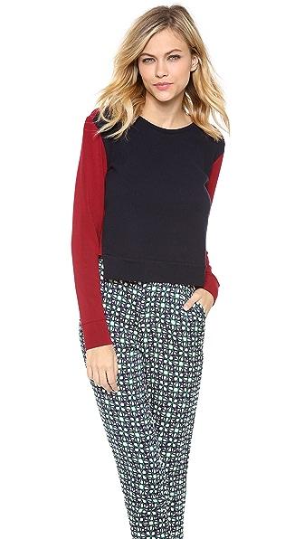 Osklen Bicolor Open Back Sweater