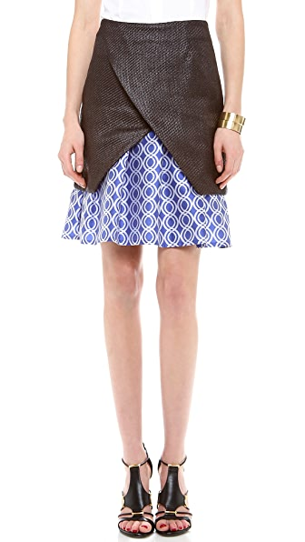 Ostwald Helgason Raffia Layered Skirt