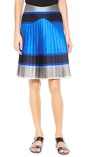Ostwald Helgason Striped Pleated Skirt