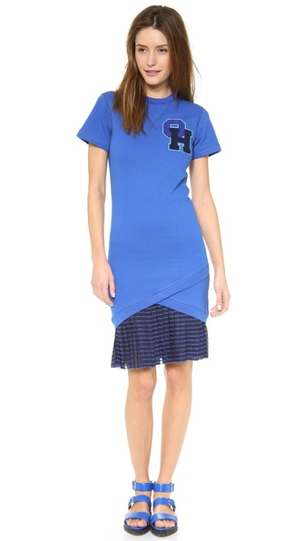 Ostwald Helgason T-Shirt Dress with Sheer Skirt