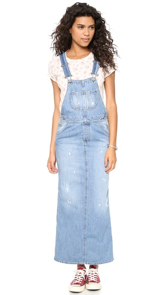 Otto D'Ame Denim Overall Dress - Grunge