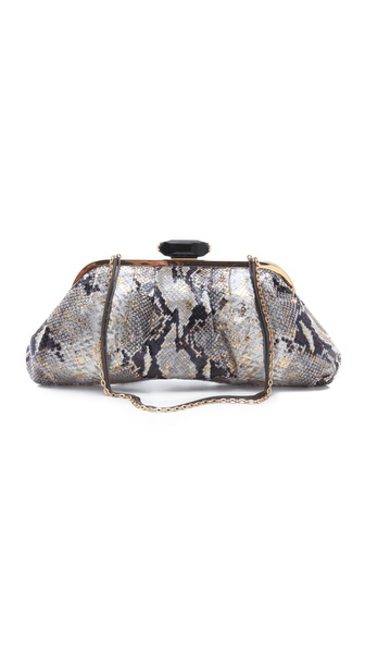 Overture Judith Leiber Devin Snake Print Clutch