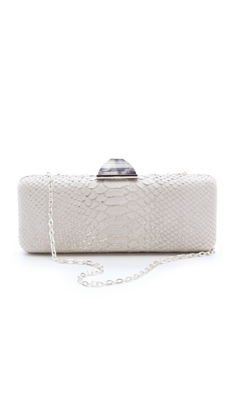 Overture Judith Leiber Jessica Snake Print Clutch